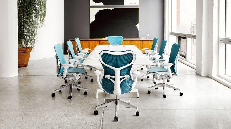 #herman #miller #mirra2 #bureaustoel blauw. #Kantoor #office #design