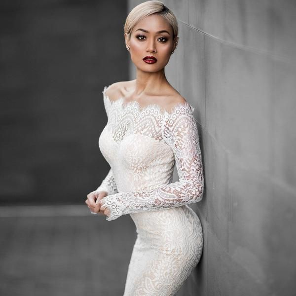 Beautiful White Off Shoulder Lace Mermaid Dress – MeetYoursFashion