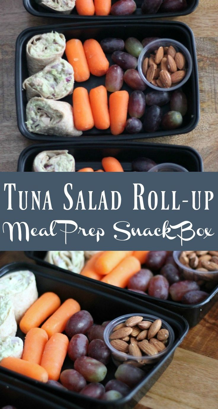 Healthy Meal Prep Idea Tuna Salad Snack Box