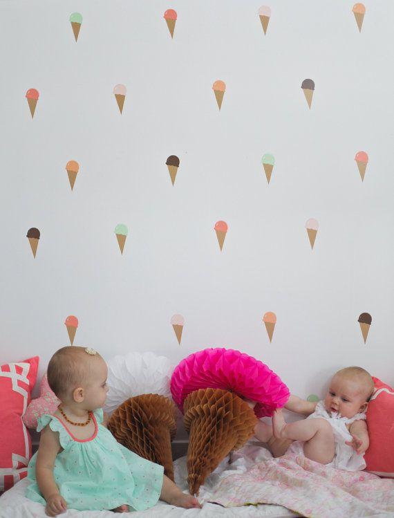 Vinyl Wall Sticker Decal Art Ice Cream Cones por urbanwalls