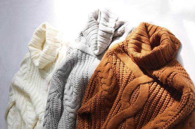 ✔️NEW ARRIVAL . デザインケーブルニットプルオーバー ¥7,400(+tax) . #murua#fashion#autumn#winter#knit#brown#murua2016aw