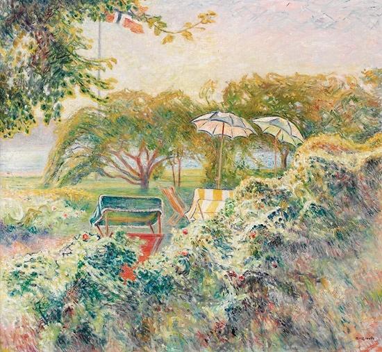 Arne Kavli (1878 – 1970): Fra haven, Rønnes ved Grimstad