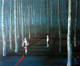 """""""Walking kids"""" one of my favorite paintings. I have made it in high quality acrylic on canvas. See more at my Web. www. Aharkes.dk"""