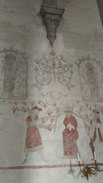 Väggmålning klinte kyrka