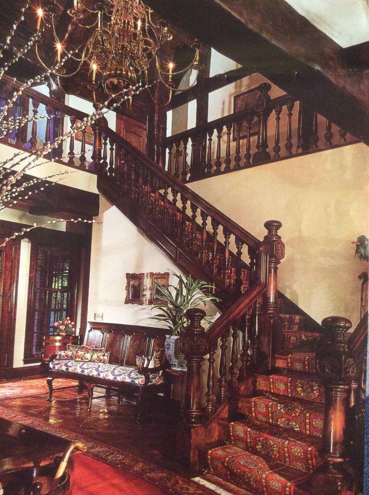 Tudor Staircase Mountain Decor In 2019 Tudor Decor