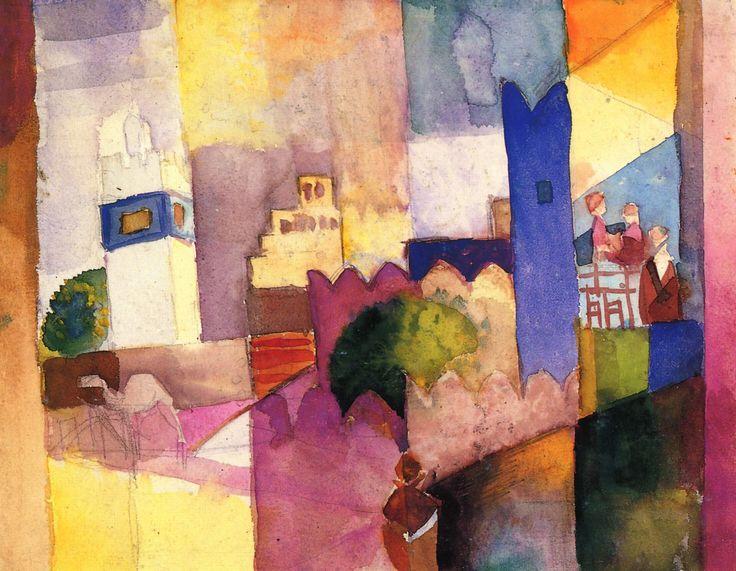auguste macke paintings | Kairouan (III)