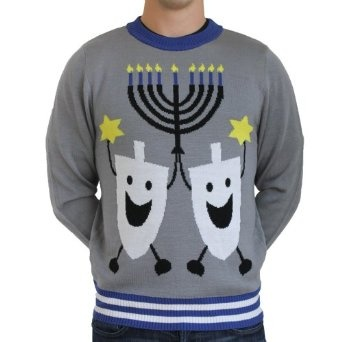 Ugly Christmas Sweater - Hanukkah Sweater by Tipsy Elves