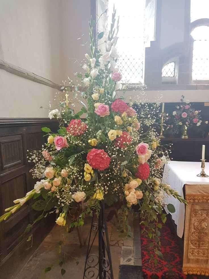 Church flowers  Pink Roses