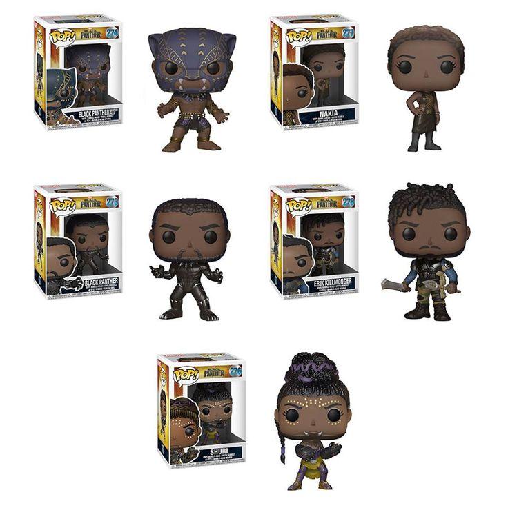 Pantera Negra vai ganhar sua própria linha Funko Pop! com direito a bonecos colecionáveis dignos de Wakanda. Os personagens colecionáveis são: o próprio Pantera Negra, Shuri, Okoye, Nakia e o vilão Erik Killmonger.