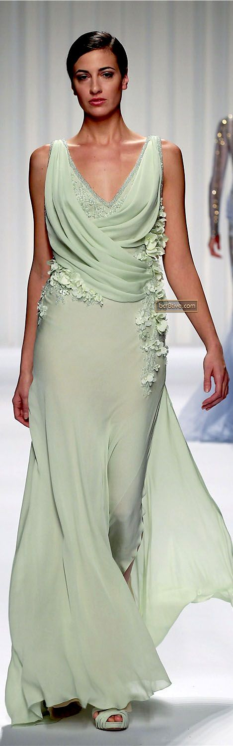 love the color, love the movement. Abed Mahfouz Couture Spring Summer 2013
