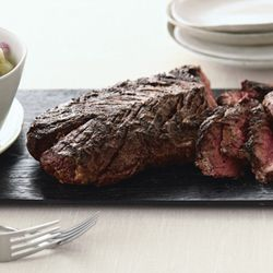 Grilled Lime-Curry-Rubbed Hanger Steak with Fresh Melon-Cucumber ...