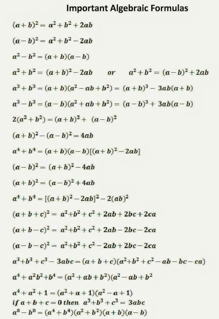 Olwys be remember     Hacks   Algebra formulas, Math