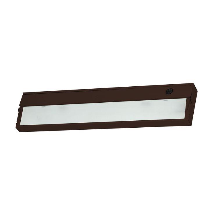Alico Zeeline 2 Lamp Xenon Cabinet Light In Bronze With Diffused Glass