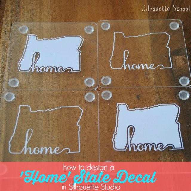 Welding Text and Shape Outlines in Silhouette Studio (Home State Decal Tutorial)