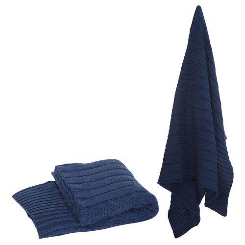 Blue Polyester Throw