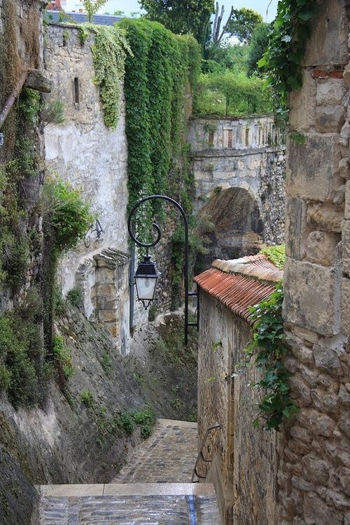Medieval Stairway, Burgundy, France