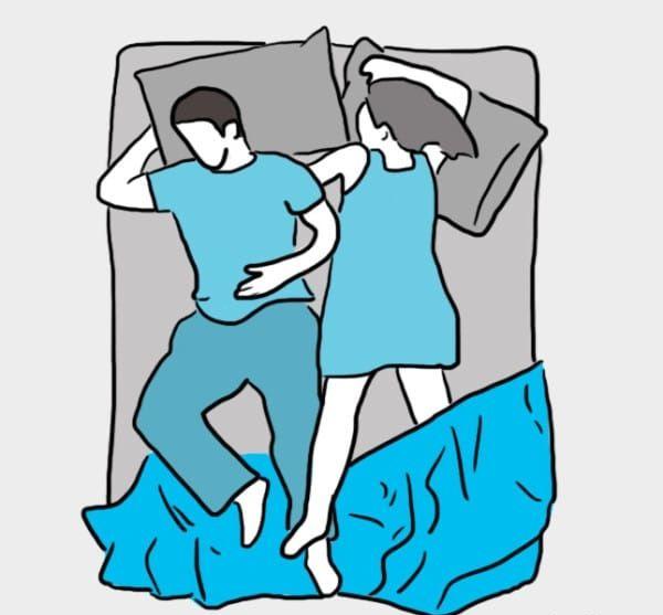Dites-moi comment vous dormez, je vous dirai où en est votre couple !