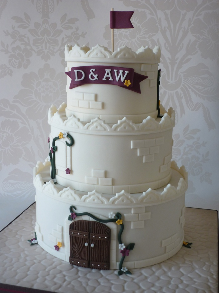 Castle for two cake... fiancé liked this one better than the cave painting cake.
