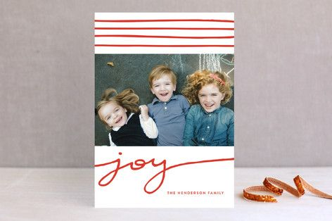 Wrap Around Joy Christmas Photo Cards by Oscar & Emma at minted.com