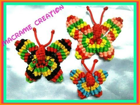 EASY Macrame Butterfly tutorial in hindi - YouTube