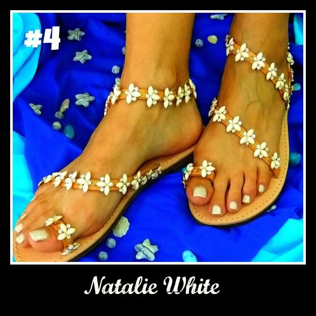 Number 4, Natalie White. Click the link for more http://www.greekinnovativesandals.com/2015/01/natalie-white.html €129.00