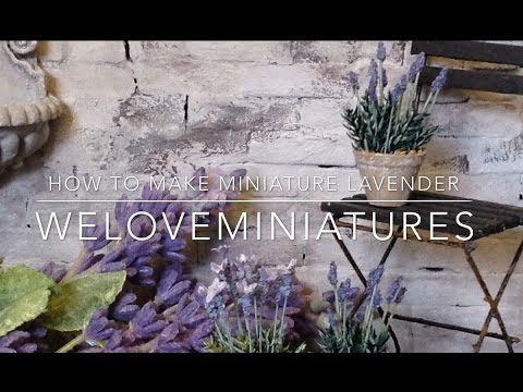 How to make miniature lavender - YouTube This is a sensible lavender tutorial. You won't go blind trying to do this. No clay involved.