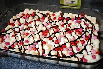 Smore Love Bars - cut them up and put them in cellophane bags with tags.  Cute Valentine.