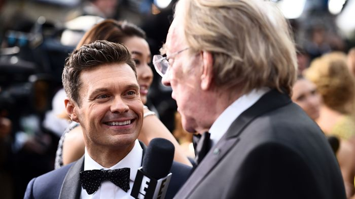 Ryan Seacrest's coverage of the Academy Awards red carpet arrivals for E! on Sunday took a significant hit in the Nielsen ratings. E!'s red carpet coverage, which Seacrest hosted, avera…