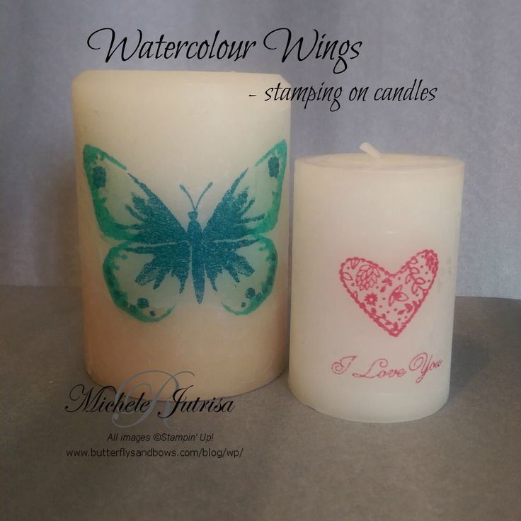 Stamping on Candles using Stampin' Up! Products