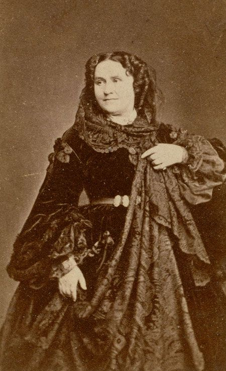 Apollonie Sabatier (1822-1890), photographed by Charles Barenne, c. 1860. She was a courtesan, salonniere, artists' model and bohemienne in 19th century Paris.
