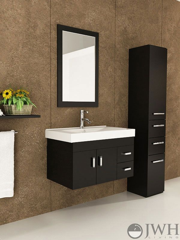 Lyra Single Wall Mounted Bath Vanity   Clean Lines And Minimalist Appeal Of  A Modern Floating Vanity With Stylish Integrated Sink Top.