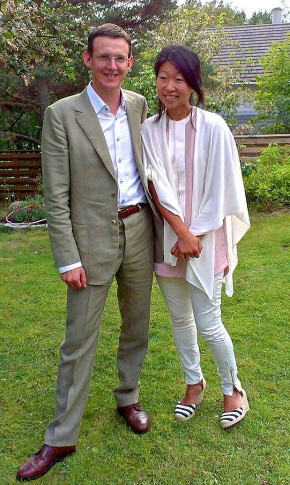 Nicolas and his wife, Kristina, sent us this photograph from their lovely garden in Stockholm. Nic's suit is in green linen with fabric from Holland & Sherry. Like many of our clients, Nic has paired his bespoke suit with bespoke shoes by Vass Shoes / Vass Cipő of Budapest.