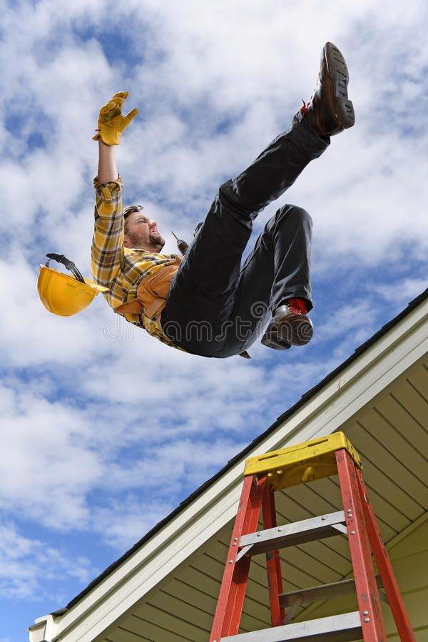 Man Falling Off Roof Man Falling From Edge Of Roof While Using Ladder Spon Roof Falling Man Falling Ladder Ad Roof Edge Roof Man