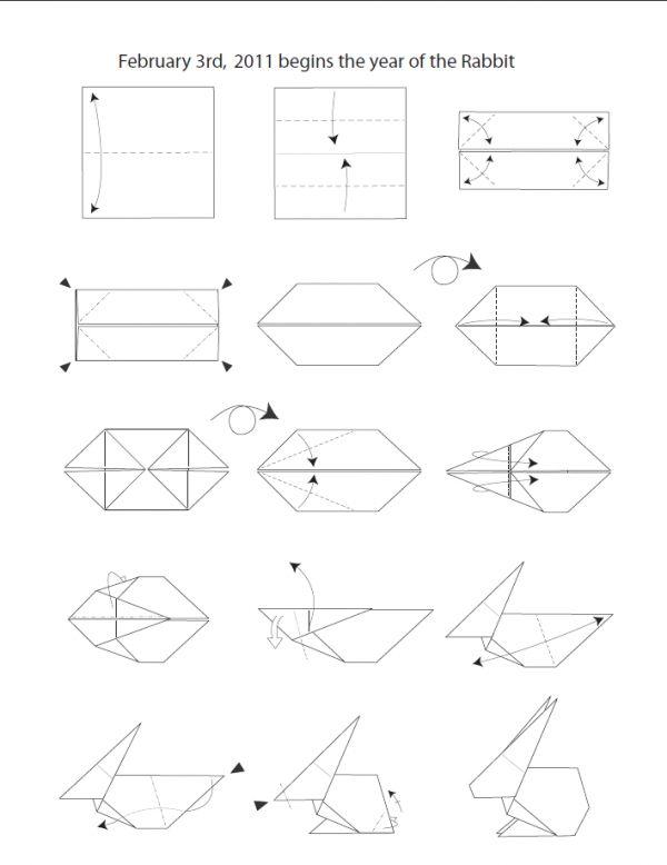 Les 25 meilleures id es de la cat gorie lapin origami sur pinterest rabbit origami video - Comment faire de l origami ...