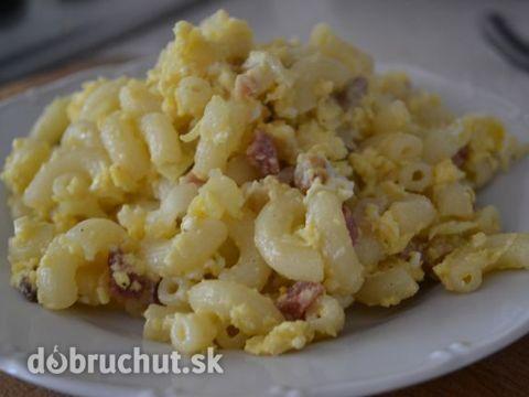Fotorecept: Cestoviny s vajíčkom - Super rýchla a chutná večera.