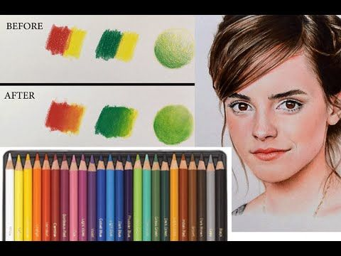 BEST WAY TO BLEND COLORED PENCILS!! - YouTube
