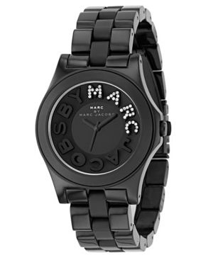 Marc by Marc Jacobs Black Plastic Bracelet Ladies Watch MBM4527