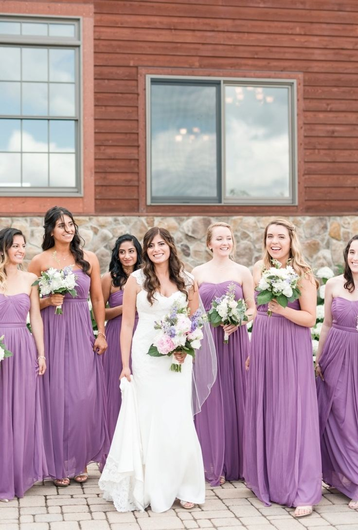 471 best dbmaids images on pinterest bridesmaids davids bridal davids bridal bridesmaids in long strapless mesh bridesmaid dress in purple the perfect shade for ombrellifo Images