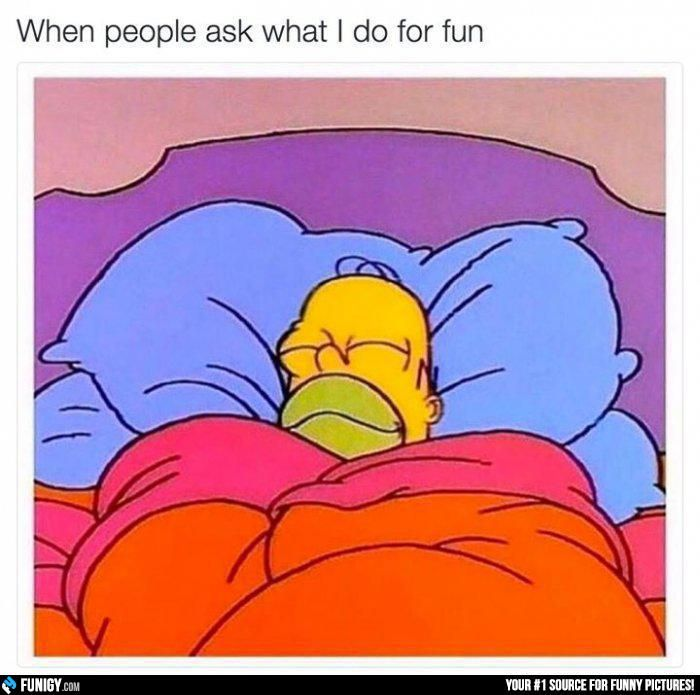 When people ask what I do for fun (Funny People Pictures) - #ask #fun #people #sleep