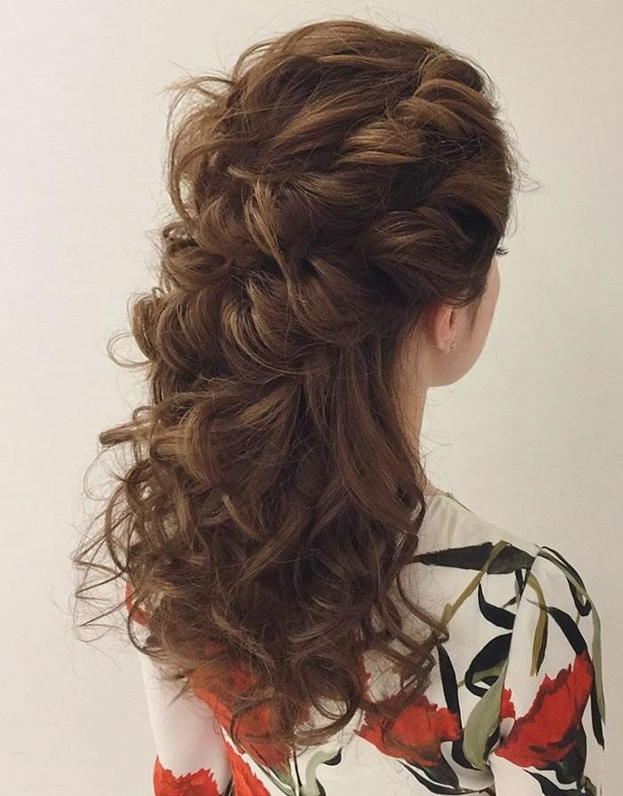 half up half down curly hairstyles , half up half down hairstyles wedding,casual half up half down hairstyles