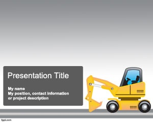 Download free Construction Machinery PowerPoint template to prepare powerful presentations in Microsoft PowerPoint on machinery, creating from raw materials, presentations on structure and concrete as well as trading or machinery PowerPoint presentations related to edifice assemblage or similar