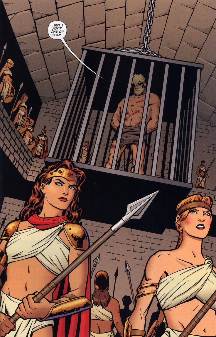 ... warriors gaze at him with contempt, Oliver threatens the Amazonian warriors with the one thing he knows that he has left – his wife, Dinah Laurel Lance.