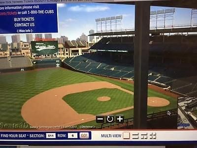 #tickets Chicago Cubs vs NY Yankees Tickets 05/05/17 (Chicago) Price Is For 2 Tickets please retweet