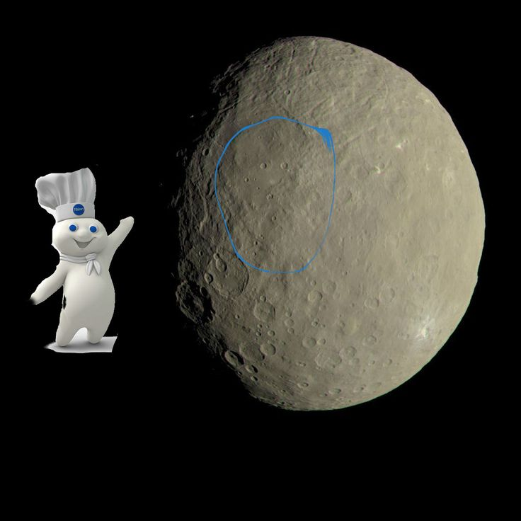 Am I the only one that sees the Pillsbury dough boy? in this dwarf planet