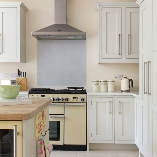 Yellow and grey classic kitchen
