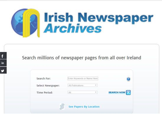 Irish Newspaper Archive. Subscription based.