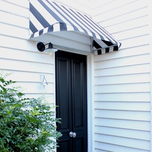 Charming Iu0027m So Happy With My Black And White Stripe Canopy From  @hamptonscoastalstylebrisbane And