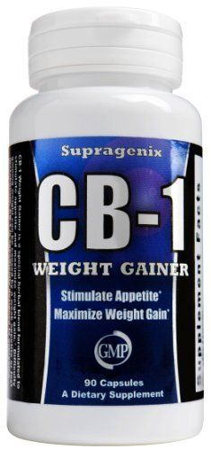 CB-1 Weight Gainer - Weight Gain Pills by Supragenix. $49.98. CB-1 Weight Gainer is an all-natural weight gain pill. This effective weight gain supplement was specifically designed for people who struggle to put on weight and suffer from a fast metabolism or weak appetite. CB-1 acts as an appetite stimulant to delay the feeling of fullness and overcome a fast metabolism.  By naturally increasing your food and calorie intake, you can gain weight fast.   CB-1 us...
