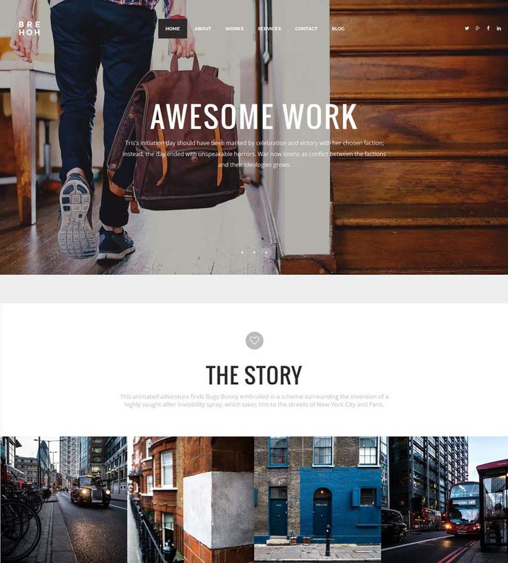 Brehoh - Responsive One Page Portfolio Template 2015