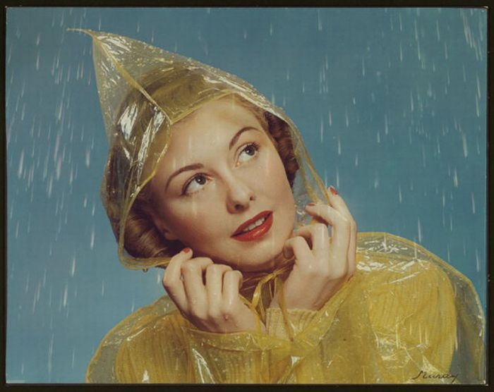 Vintage rain bonnet - my granny always carried one in her purse!